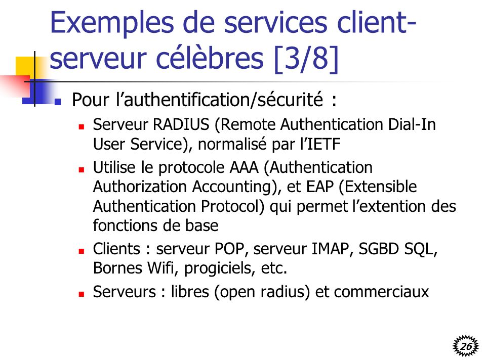 Exemples de services client-serveur célèbres [3/8]